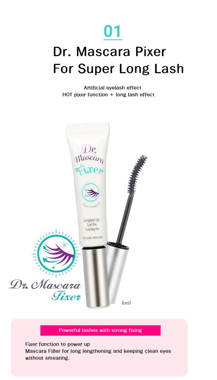 Dr. Mascara Fixer for Super Longlash 6ml How to use