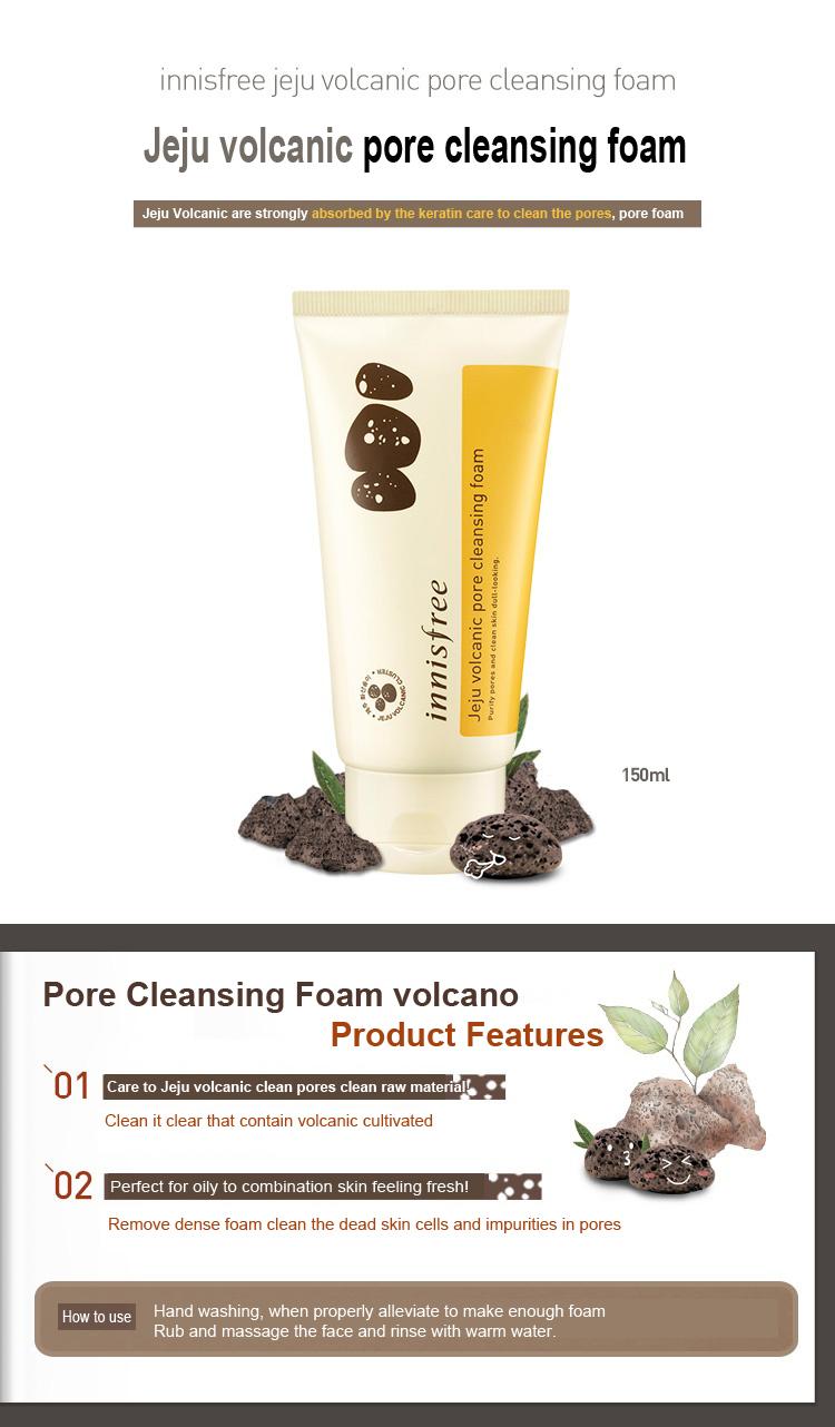 Jeju Volcanic Pore Cleansing Foam 150ml Description Ingredients