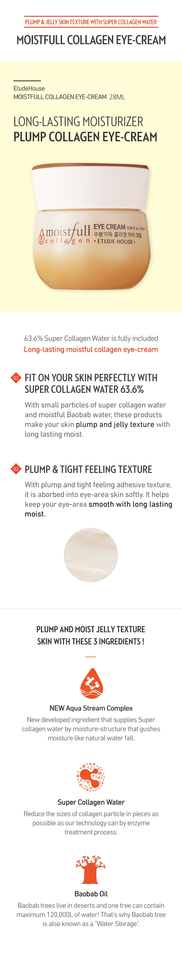 Moistfull Collagen Eye Cream 28ml How to use Description Ingredients