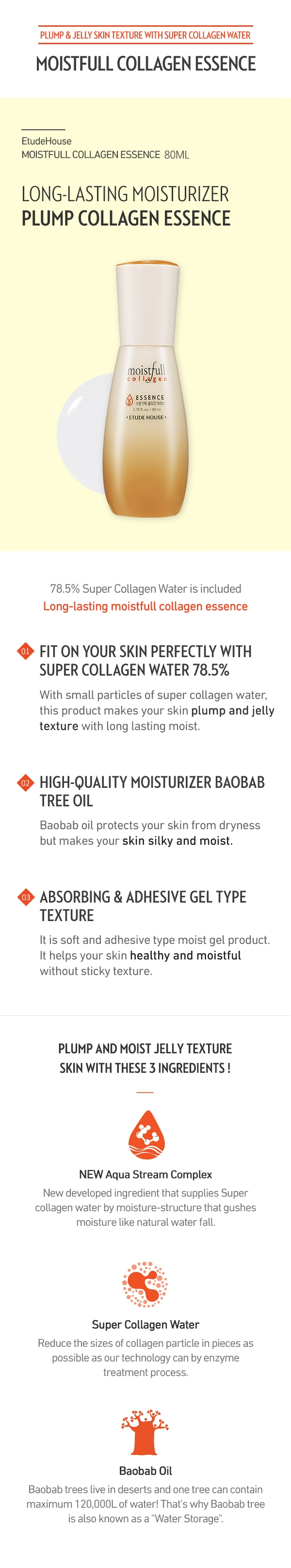 Moistfull collagen essence 80ml How to use Description Ingredients
